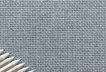 Wooden Pencils Isolated On Knitted Background Banque d'images - 108409532