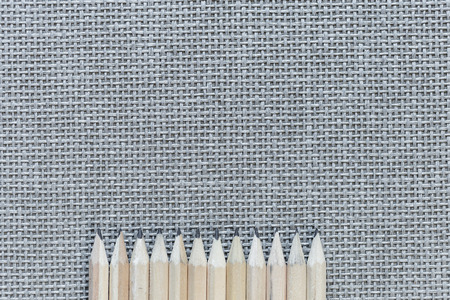 Wooden Pencils Isolated On Knitted Background Banque d'images - 108409535
