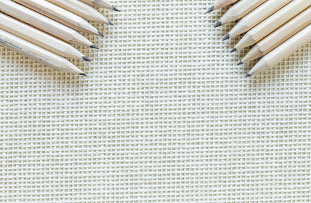 Wooden Pencils Isolated On Knitted Background Banque d'images - 108409537