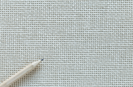 Wooden Pencil Isolated On Knitted Background Banque d'images - 108409540