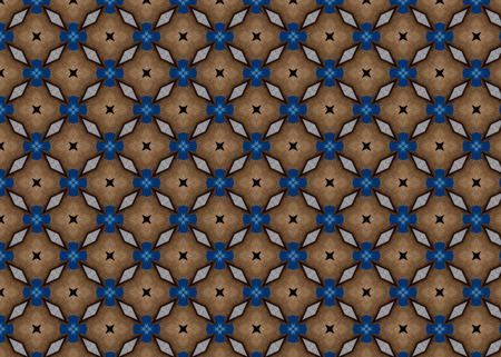 Abstract background pattern. Wooden table with blue detail. Modern design