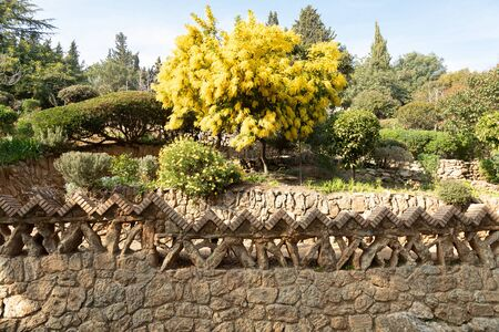 Barcelona Spain; Gorgeous and amazing Park Guell. Imagens