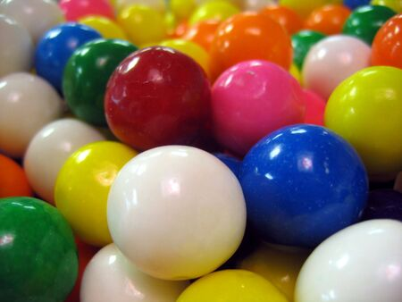 multicolored gumballs: A Group of Multicolored Gumballs Stock Photo