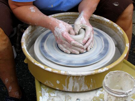 fabricate: A Close-up Of A Potter Making A Bowl