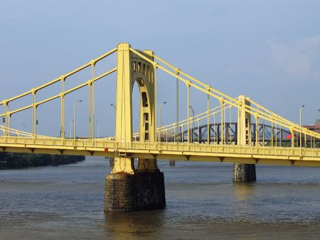 allegheny: Bridges Over The Allegheny River In Pittsburgh Stock Photo