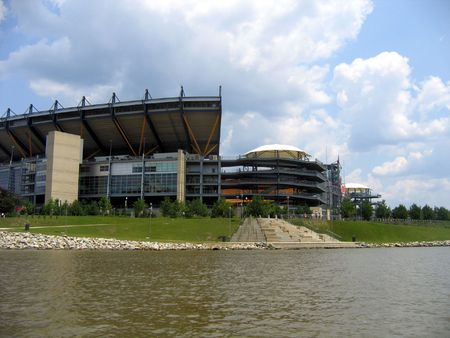 allegheny: Heinz Field in Pittsburgh PA Stock Photo