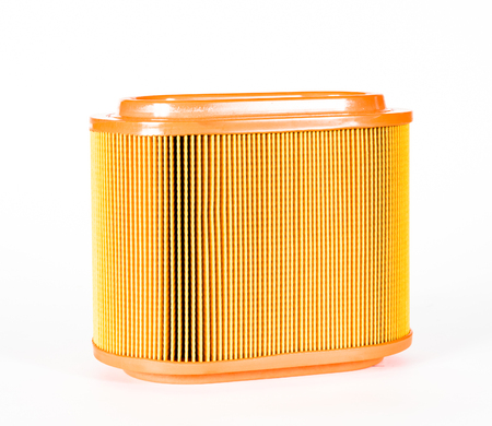 Sharp photo of engine air intake filter Stock Photo