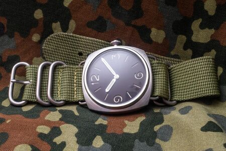 Sharp realistic photo of vintage military wrist watches