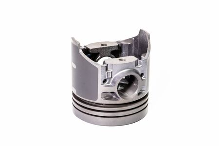 Combustion engine piston isolated on white background Standard-Bild