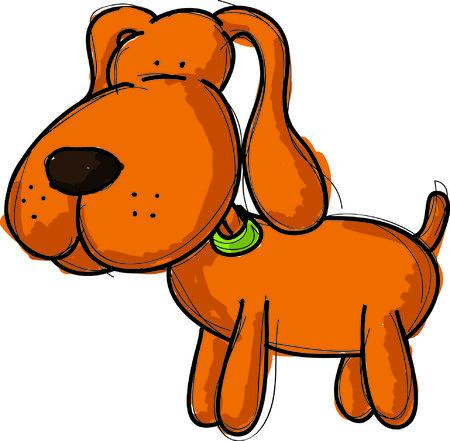 dog illustration, vector Vector