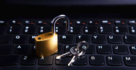 keyboard and lock Banco de Imagens