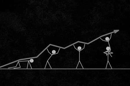 business and progress vector illustration Archivio Fotografico - 151075796
