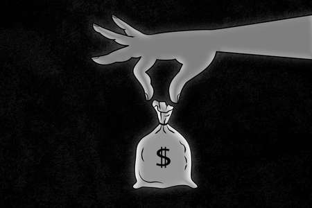 bag dollars illustration 免版税图像