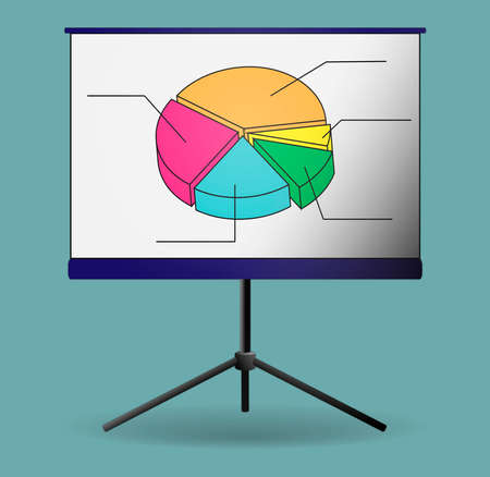 Business Growing Chart Presentation Icon Archivio Fotografico - 151075813