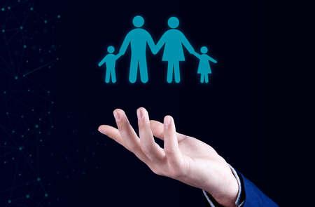 Family life insurance and policy Stockfoto