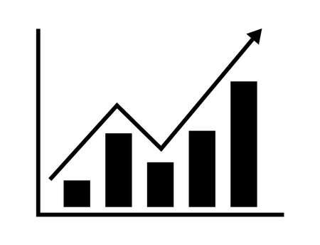 sales growth graph, illustration Archivio Fotografico