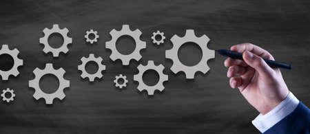 businessman and mechanism