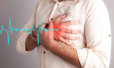 heart attack and heart disease in a young man