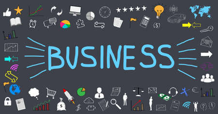 business illustration; small business icons