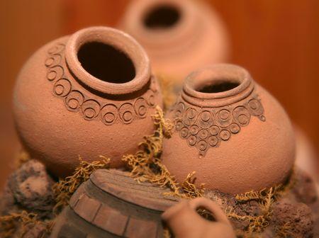 Miniature Armenian jugs clay pottery art Stock Photo - 7007671