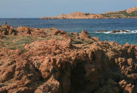 wavelet: Rocky sea bank in Sardinia