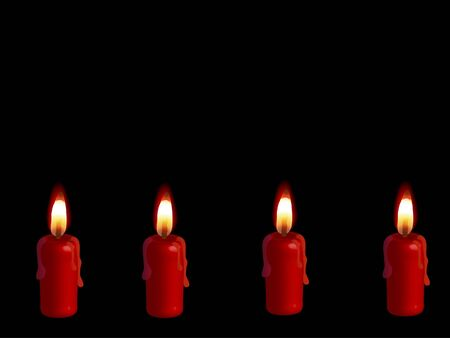 igniter: Four advent candles Stock Photo
