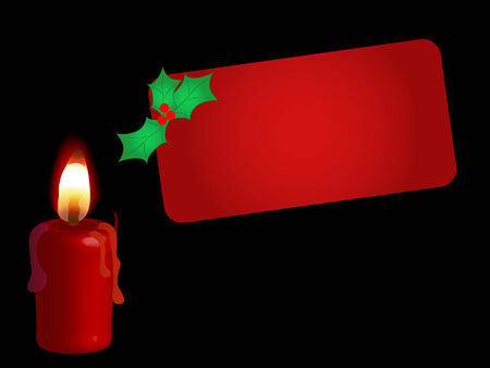 igniter: Red candle with the card
