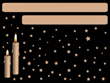igniter: Golden candles with the tags