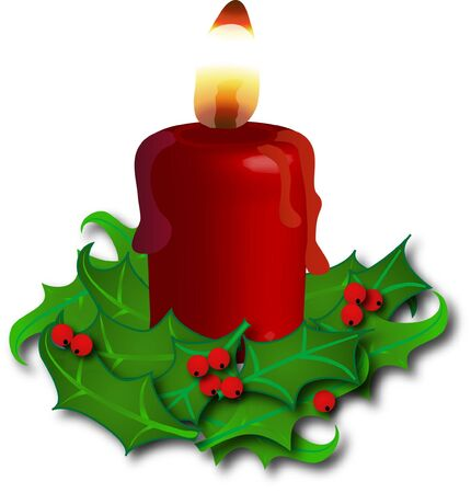 igniter: Holly candlestick with red candle