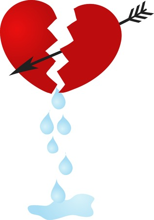 Broken heart and the tears Vector