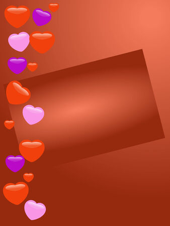 sentiment: Red card with glass hearts