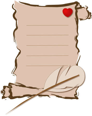sentiment: Love letter on the white background Stock Photo