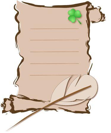 quarterfoil: Charred letter with the quarterfoil