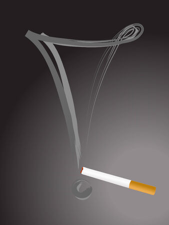 detrimental: Cigarette with exclamation mark