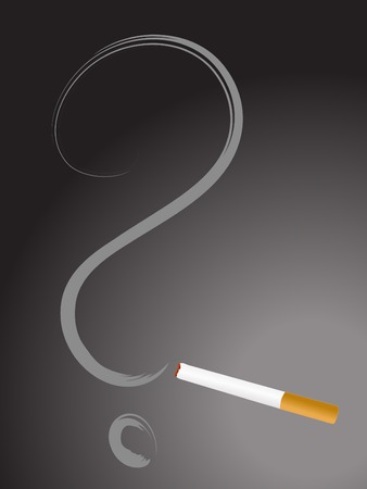 abstinence: Cigarette with question mark