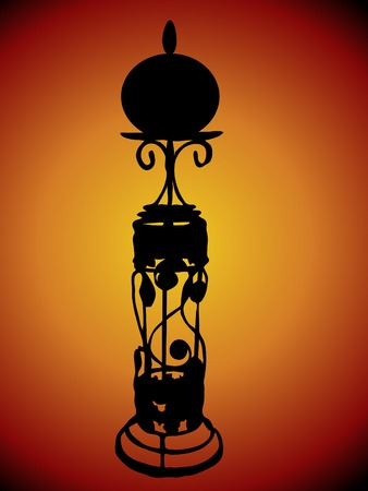 taper: Silhouette of the candlestick Illustration