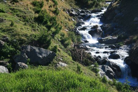 wavelet: Small river in the mountains