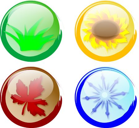 Buttons four seasons Stock Photo - 2367514