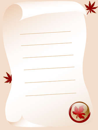 Autumn letter with the leafs Stock Photo - 2367531