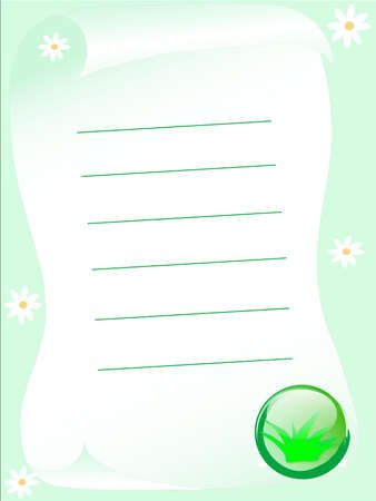 Spring letter with grass and daisy Stock Photo - 2367540