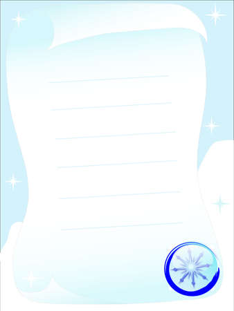 Winter letter with the snowflakes Stock Photo - 2367544