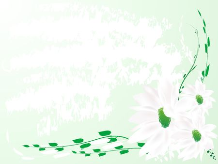Abstract green floral background Stock Photo - 2631643