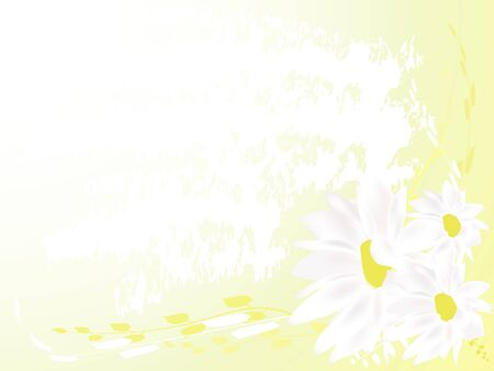 Abstract yellow floral background Stock Photo - 2631641