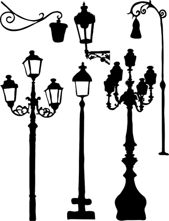 Silhouettes of the city lights Illustration