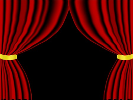 Vector illustration of red curtain Stock Vector - 2702930