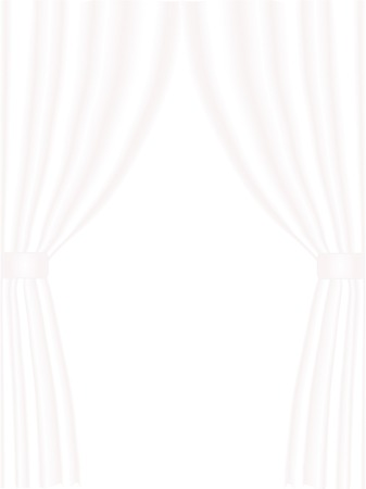 Pink and white curtain - vector Vector