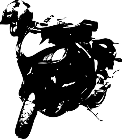 Vector illustration of the motorcycle Illustration