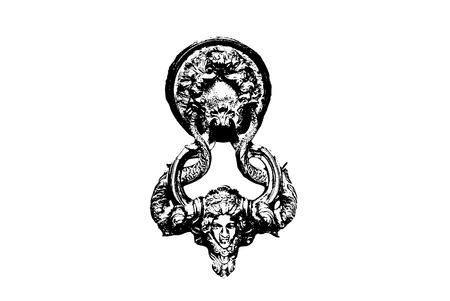 Vector illustration of door knocker