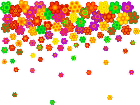 Abstract floral background with blooms Vector