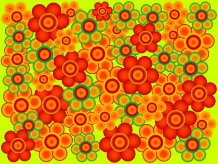 Abstract floral background with blooms Stock Vector - 2812596